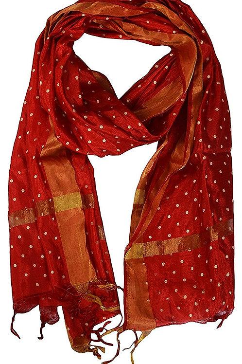 Women's Dupatta - Block Print Silk - YQ