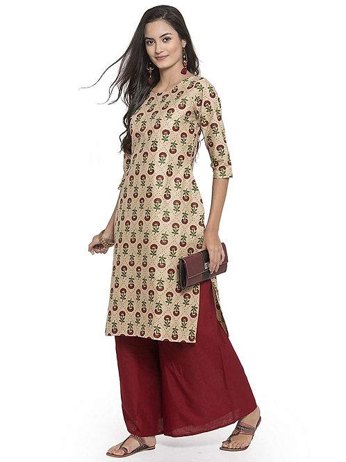 Women's Kurta Set - A-Line Fit Cotton - CC