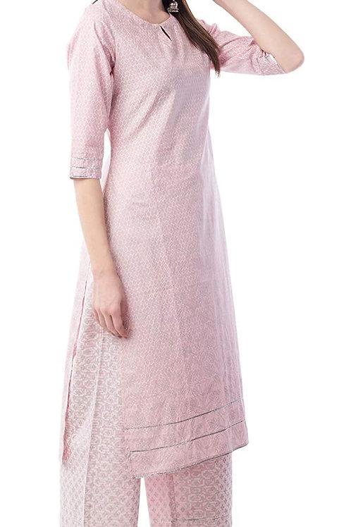 Women's Kurta Set - Cotton Straight Fit - AM