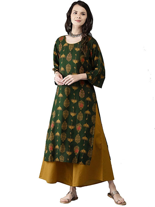 Women's Kurta Set - Cotton Rayon Set - MF