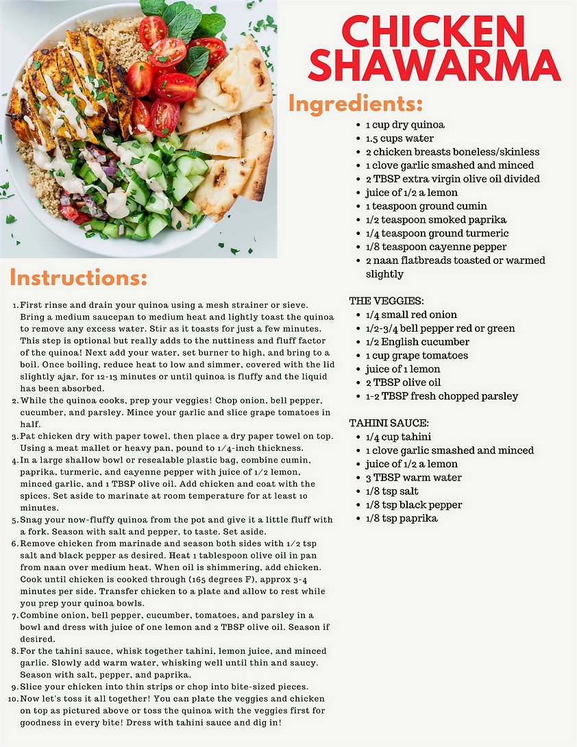 Chicken Schwarma - August Newsletter_edi