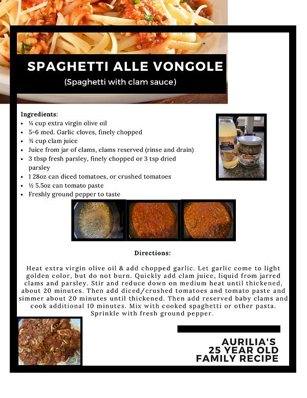 Spaghetti Alle Vongole (Spaghetti with c