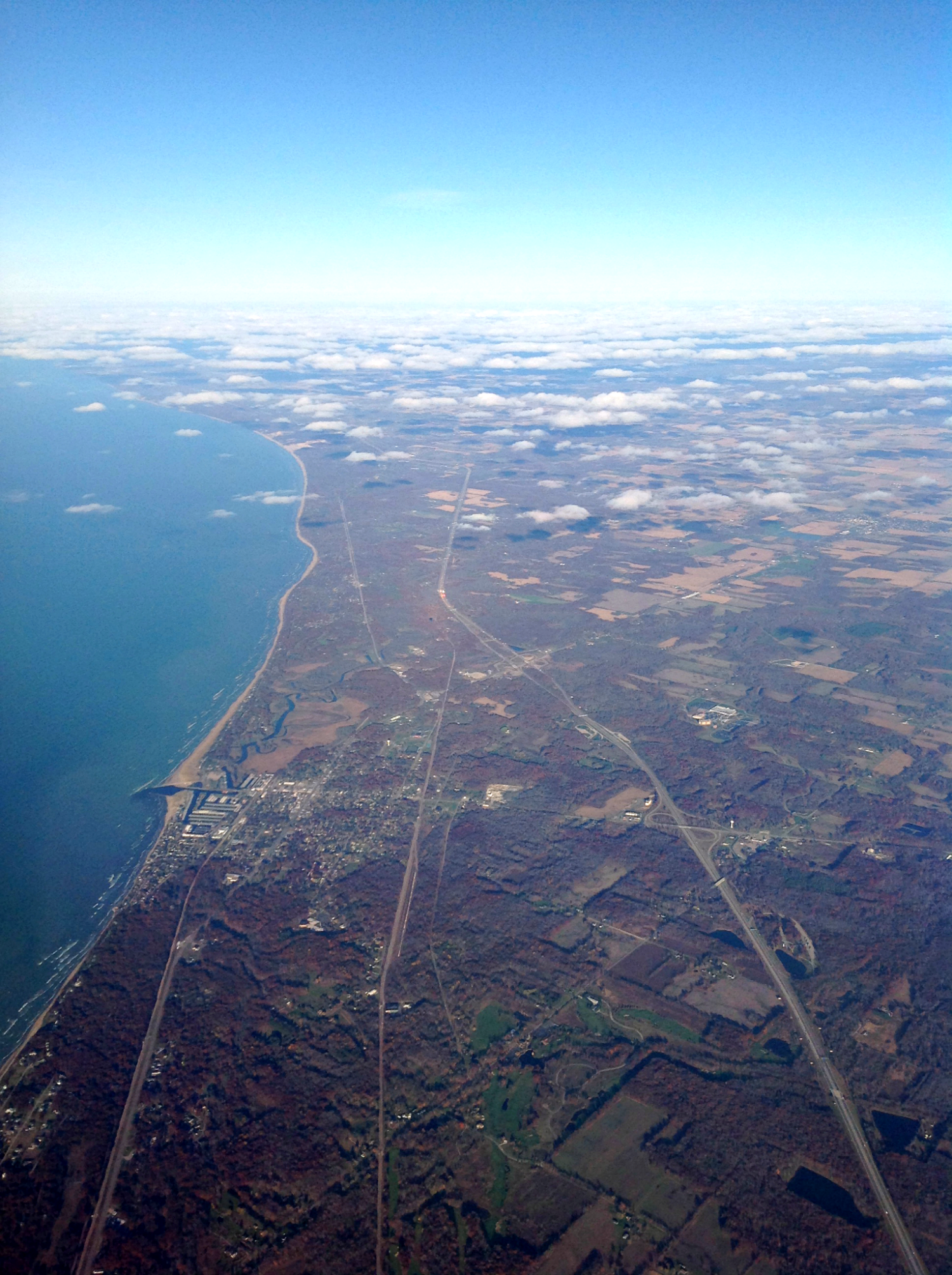 Lake Michigan over Indiana