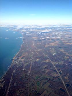 Lake Michigan over Indiana