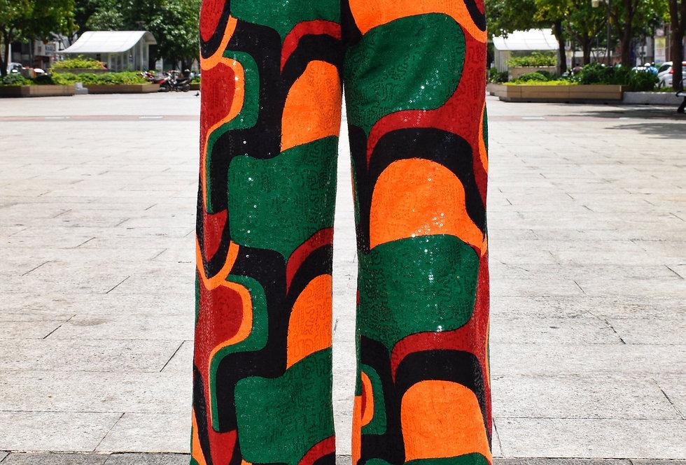 Afro Disco Queen Sequin Pant