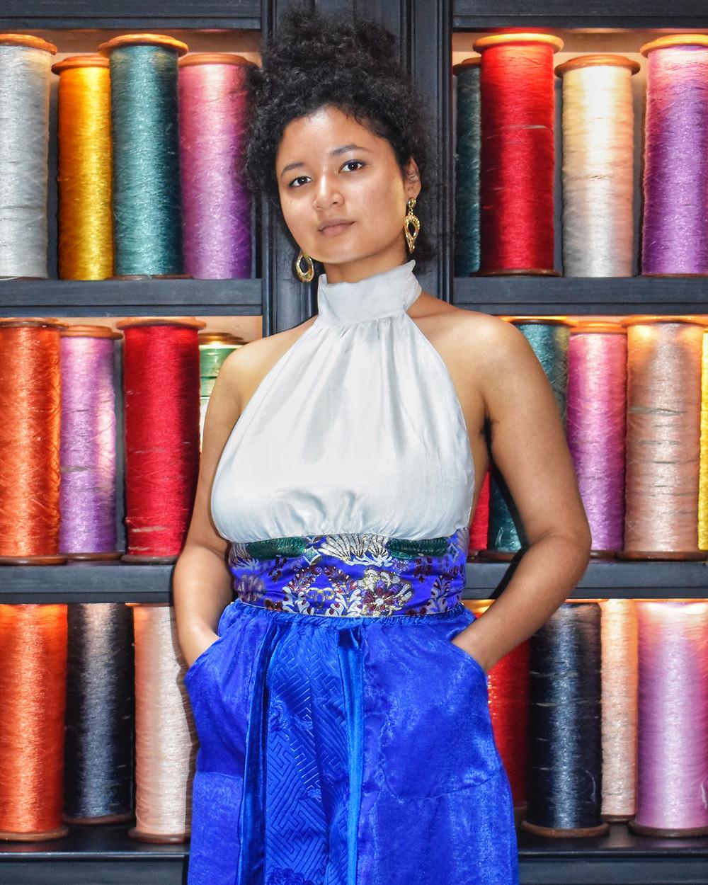 fashion designer seamstress sew thread colorful