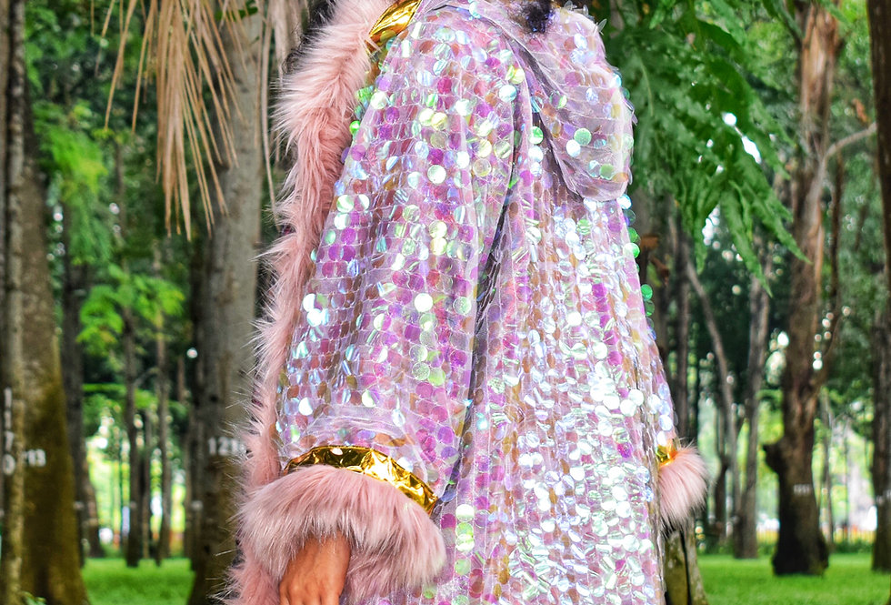 Intergalactic Mermaid Hooded Kimono