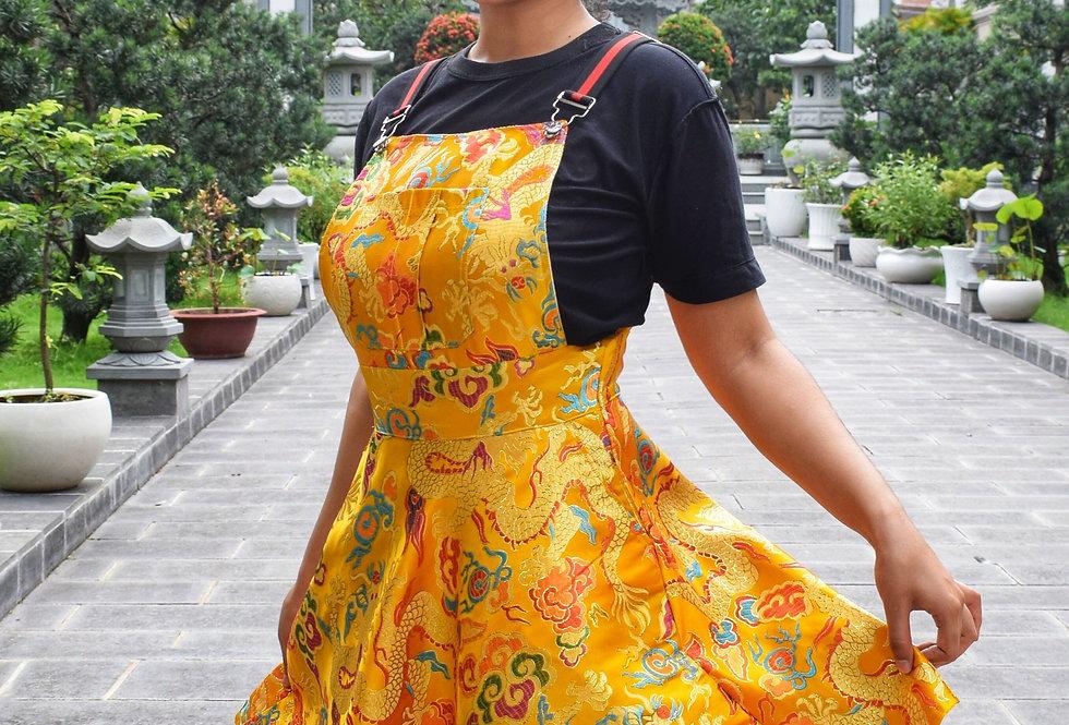 Golden Dragon Overall Dress