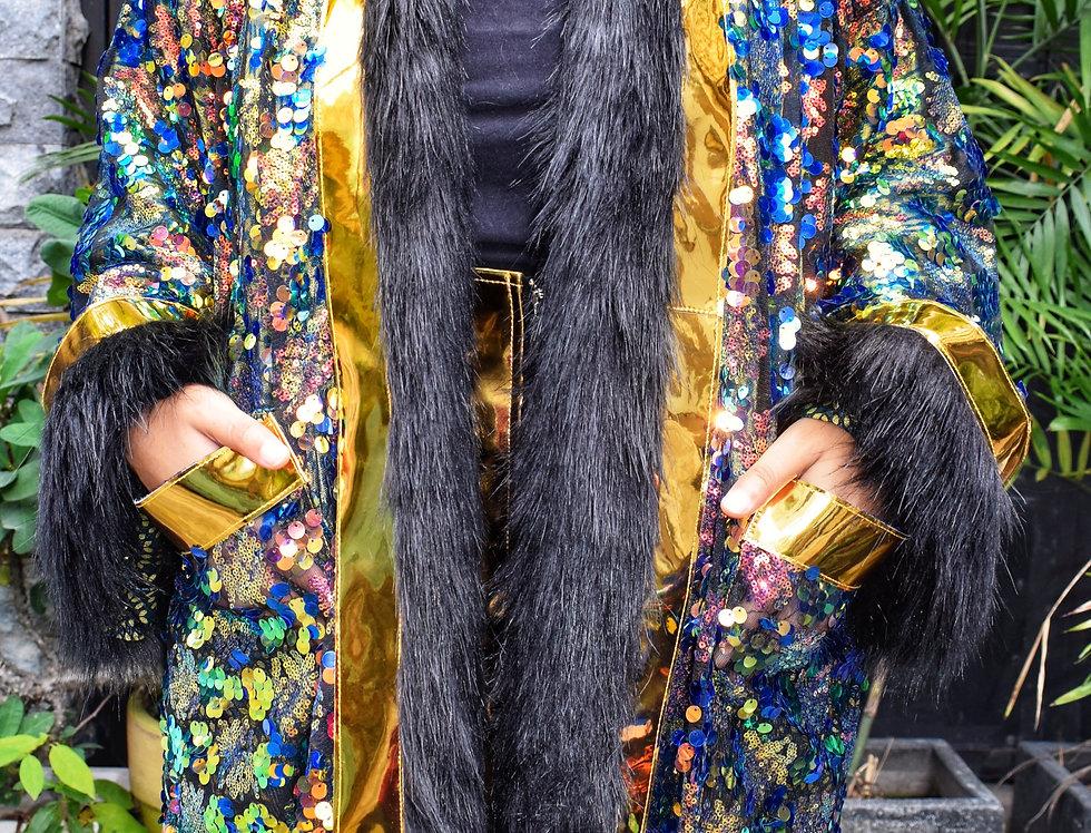 Peacock Royalty Hooded Kimono