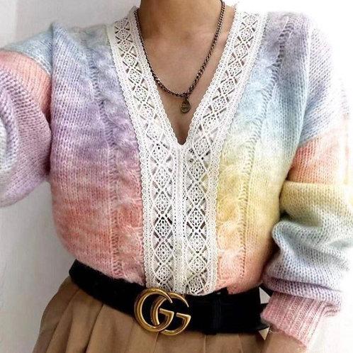 Rainbow Lace Detail Jumper