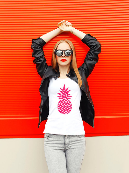 Neon Pink Pineapple Tee by PersonaliTee