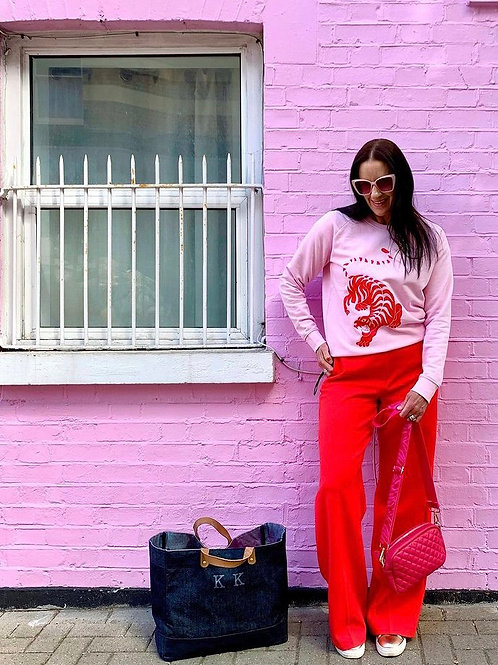 PersonaliTee Pink Tiger Sweatshirt