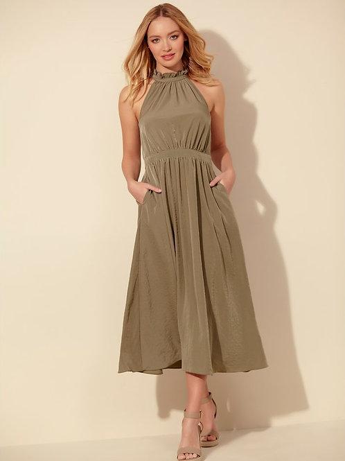 Sonder Studio Halter Neck Midi Dress