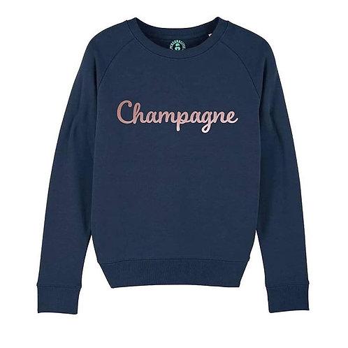 Champagne Sweatshirt by PersonaliTee