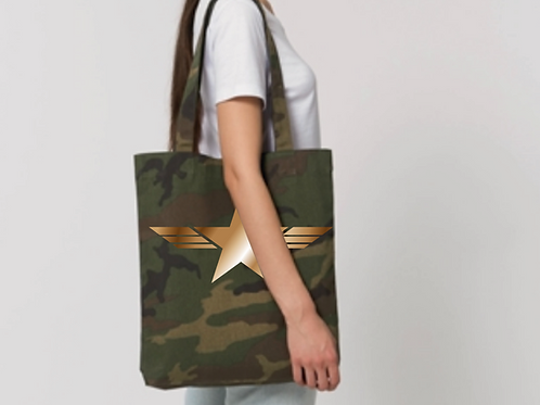 PersonaliTee Camo Star Tote Bag
