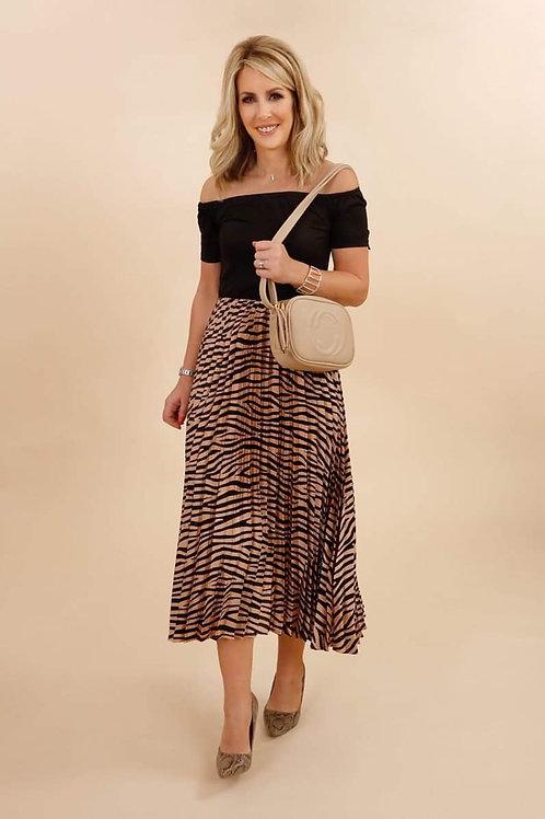AX Paris 2-in-1 Pleated Bardot Midi Dress