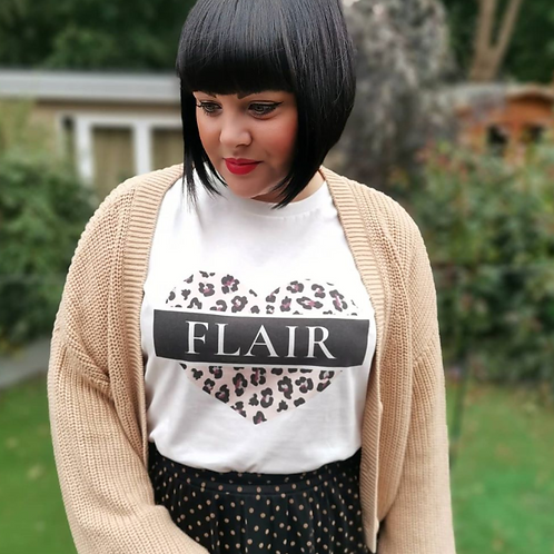 Flair Leopard Heart Tee