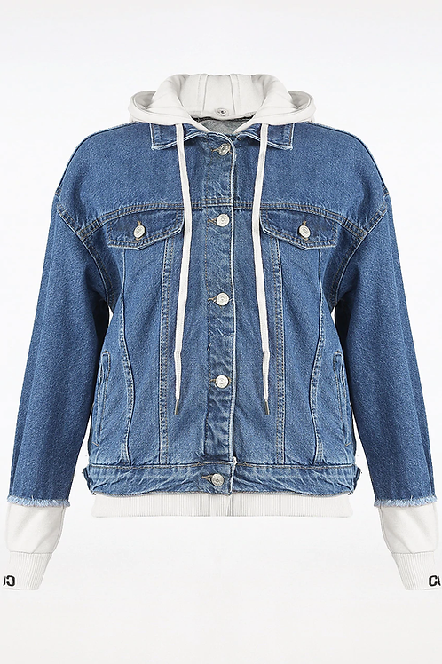 Hooded Denim Jacket (Detachable Hood)