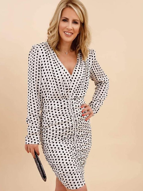 Foreva Young Polka Dot Ruched Dress