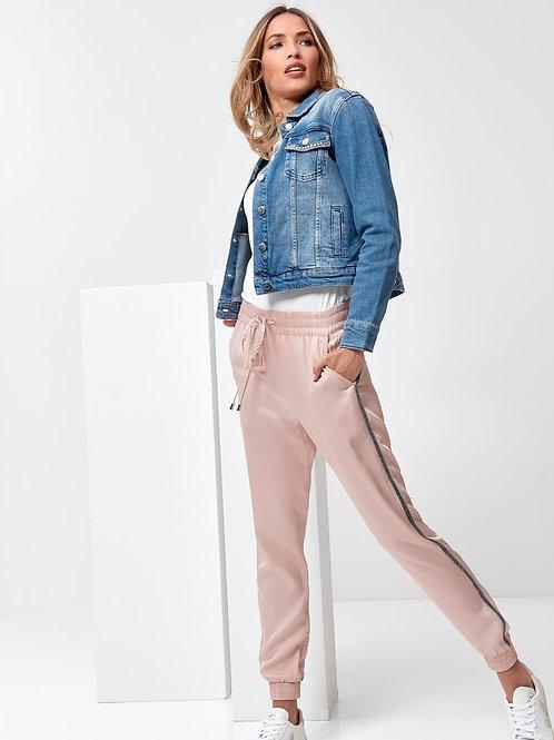 Sonder Studio Pink Luxe Stripe Jogger