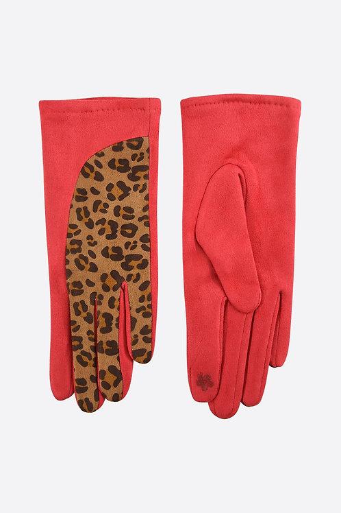 Red Leopard Gloves