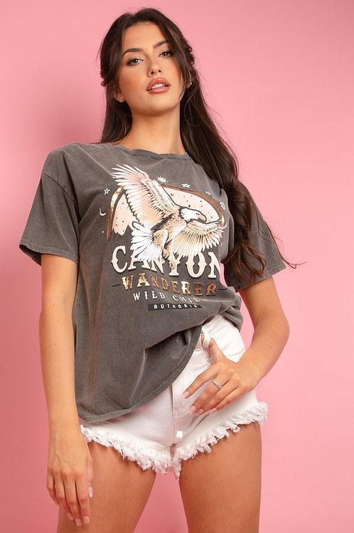 Canyon Slogan Eagle Print Tee