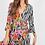 Thumbnail: Zebra & Floral Contrast Wrap Dress