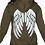 Thumbnail: Angel Back Reflective Hooded Top