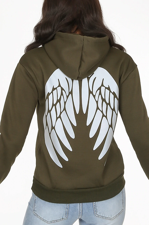 Angel Back Reflective Hooded Top