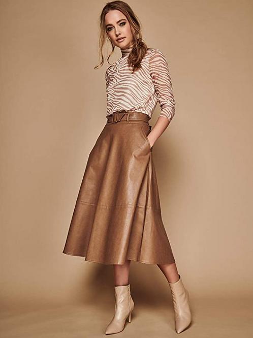 Sonder Studio Faux Leather Skirt