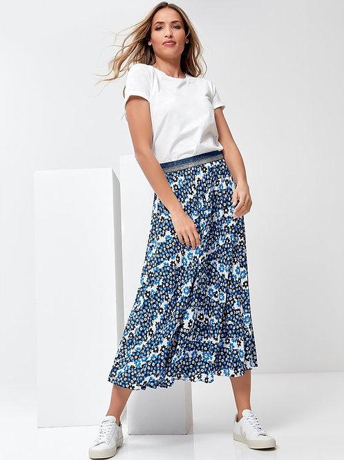 Sonder Studio Ditsy Floral Pleated Skirt