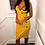 Thumbnail: AX Paris Yellow Button Front Detail Dress