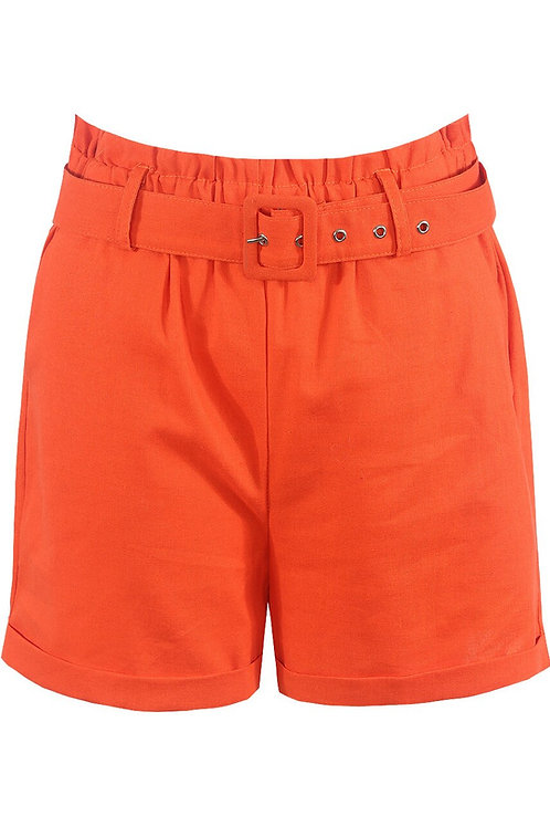 Blended Cotton Belted Shorts