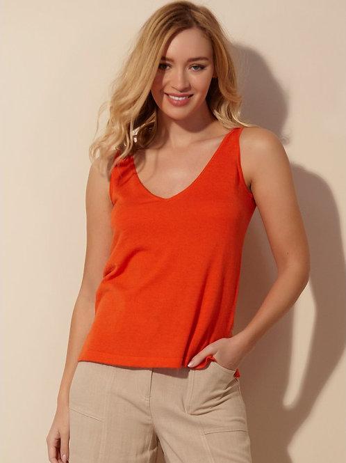Sonder Studio Orange Tie Back Vest