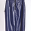 Thumbnail: Faux Leather Navy Pencil Skirt