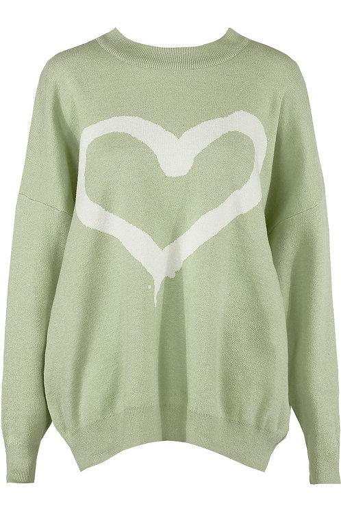 Green Heart NY Oversize Jumper