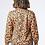 Thumbnail: Bronze Leopard Satin-Effect High Neck Blouse