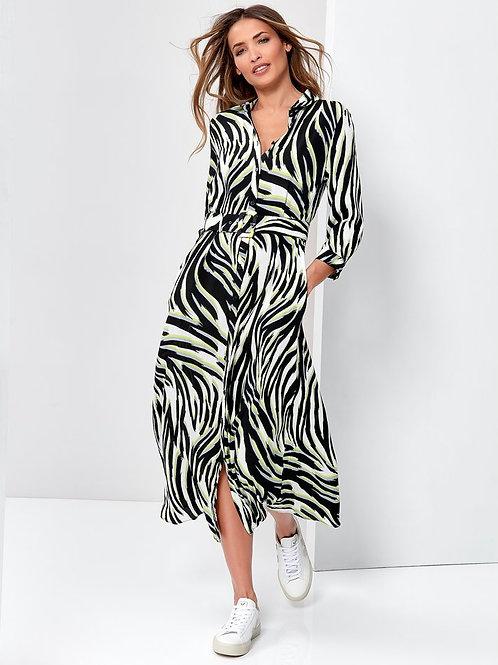 Sonder Studio Zebra Print Midaxi Dress