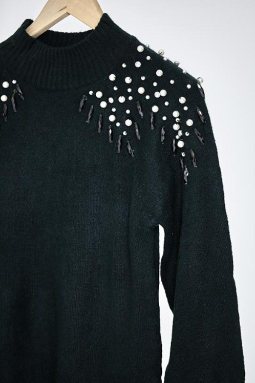 Pearl and Diamante Jumper