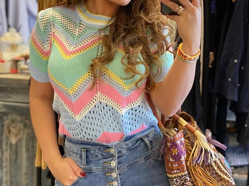 Rainbow Knitted Top