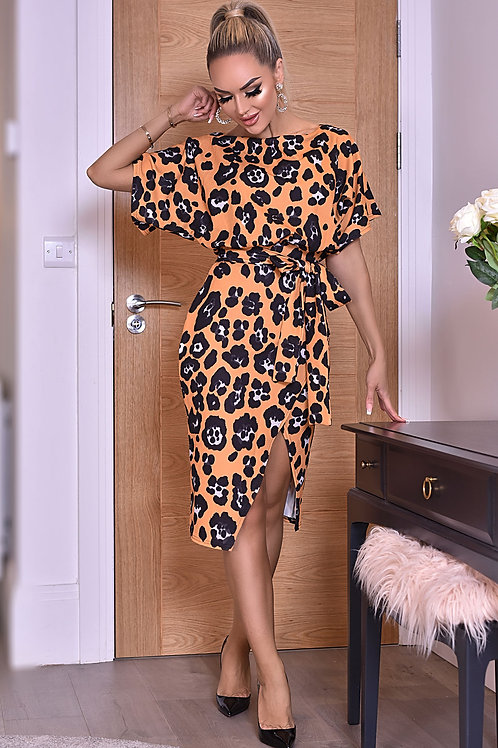 Leopard Batwing Dress