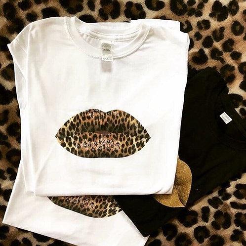 Leopard LipLove Tee