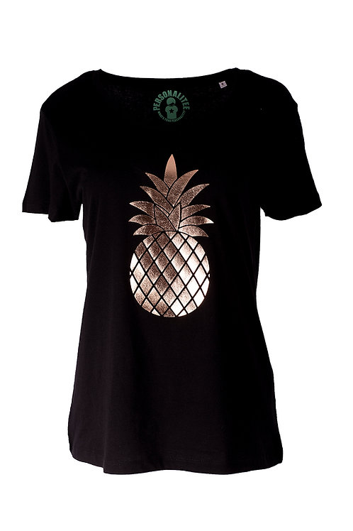 Rose Gold Pineapple Tee by PersonaliTee