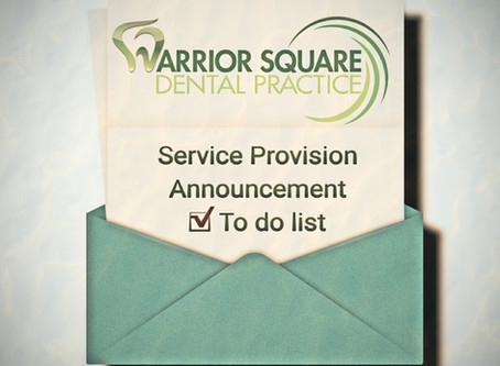 Service Provision Announcement - The New Normal