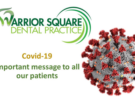 Covid-19 Important message from your dentist in Hastings