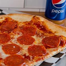 Mega Pizza Slice w/can Pop