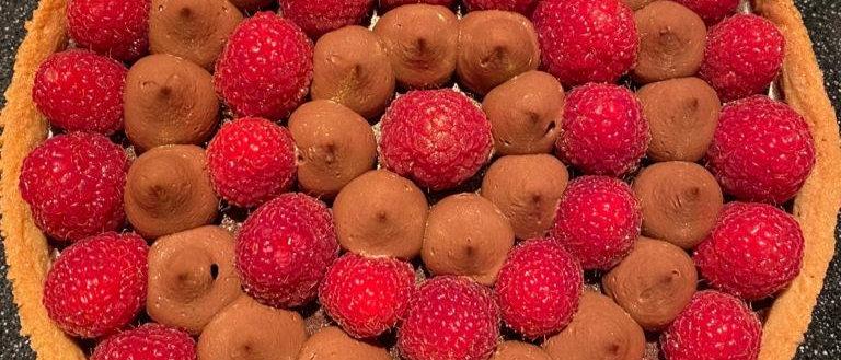 Croute Ganache Chocolat et Framboises