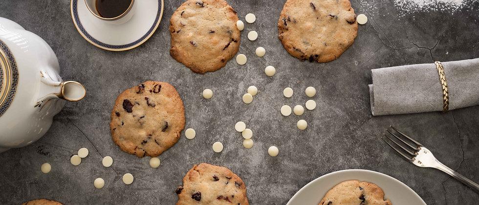 Cookies au chocolat blanc et cranberries (12 pièces)