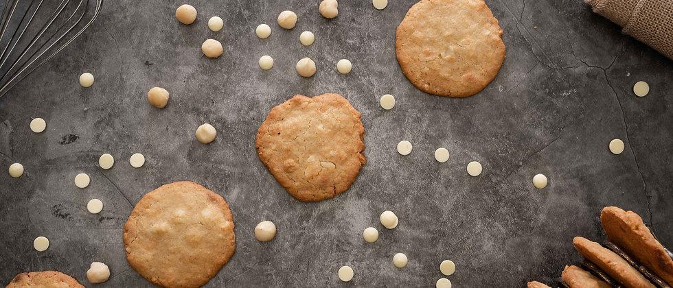Cookies Chocolat blanc & Macademia (12 pièces)