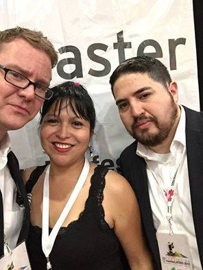 Our friend from ASCAP Velia Gonzalez with Drew Bennett and myself